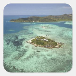 Wadigi Island, Mamanuca Islands, Fiji Square Sticker