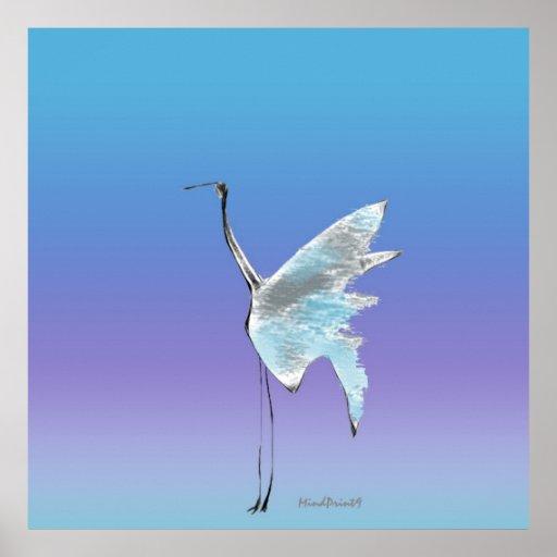 Wading Bird Poster