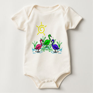 Wading Birds Baby Bodysuit