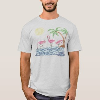 Wading Flamingos T-Shirt