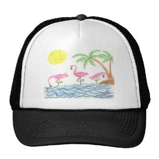 Wading Flamingos Trucker Hat
