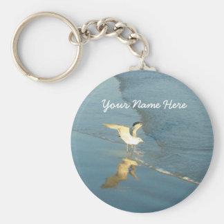 Wading Gull Personalized keychain