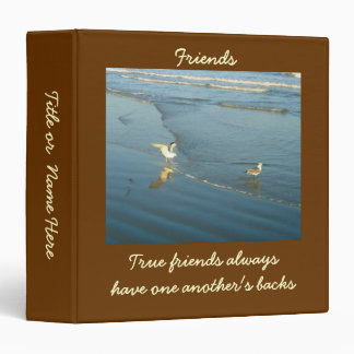 Wading Gulls Custom Friendship Binder