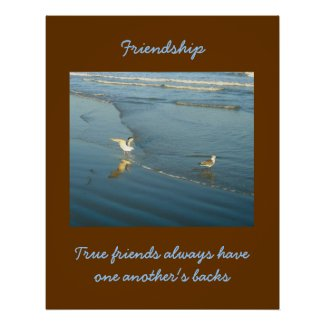 Wading Gulls Friendship Poster from H2OWater