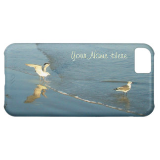 Wading Gulls Personalized iPhone 5C Cover