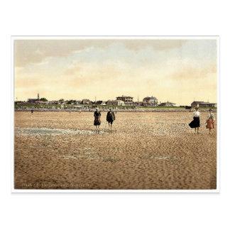 Wading on the beach, Busum, Schleswig-Holstein, Ge Postcard