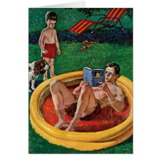 Wading Pool Greeting Cards
