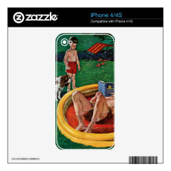 iPhone 4/4S Skin with Cocker Spaniel Phone Cases design