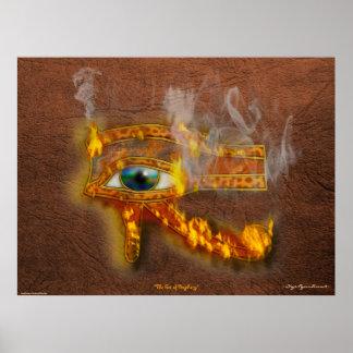 Wadjet Eye of Horus Acient Egyptian Art Print