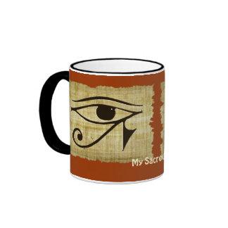 WADJET EYE OF HORUS on Papyrus Gift Series Ringer Coffee Mug