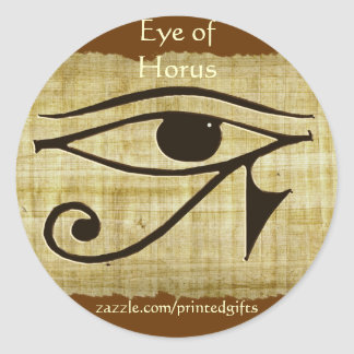 WADJET EYE OF HORUS on Papyrus Gift Series Classic Round Sticker