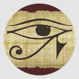 WADJET EYE OF HORUS on Papyrus Gifts Classic Round Sticker