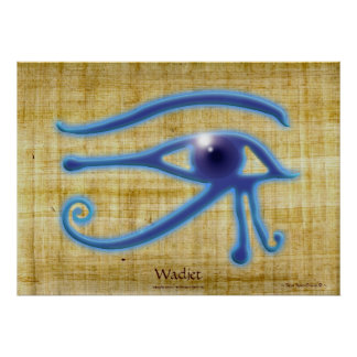 WADJET EYE Papyrus-effect Egyptian Art Print