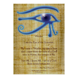WADJET EYE & Poem Egyptian Art Print