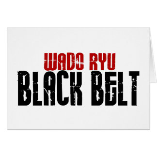 Wado Ryu Black Belt Karate Card