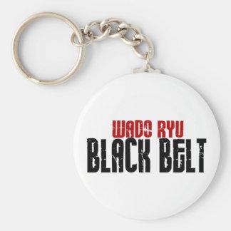 Wado Ryu Black Belt Karate Keychain