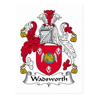 Wadsworth Family Crest Postcard