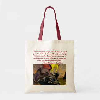 Wadsworth quote abstract tote bag