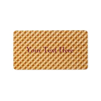 Wafer Texture Address Label