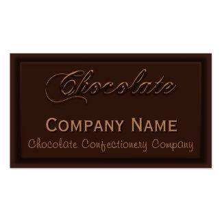 Wafer Thin Chocolate Confectionery Business Cards