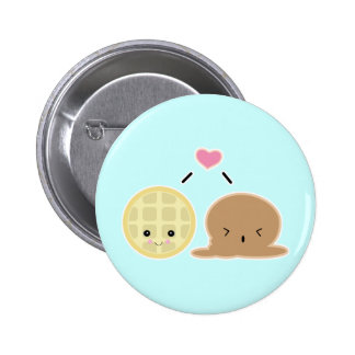 waffle and ice cream love button