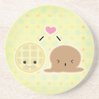 waffle and ice cream love coasters