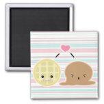waffle and ice cream love fridge magnets