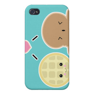 waffle and ice cream love iPhone 4 cases