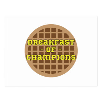 Waffle_Breakfast Of Champions Postcards