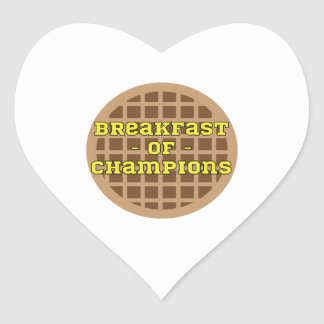 Waffle_Breakfast Of Champions Heart Sticker