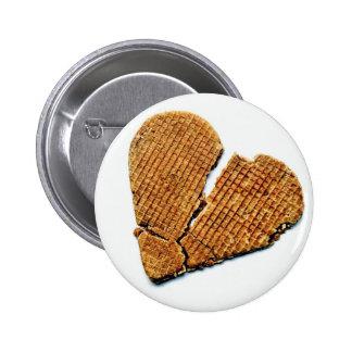 Waffle Heart Pinback Button