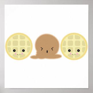 waffle ice cream sandwich print