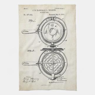 Waffle Iron Patent Print 1883 Towel
