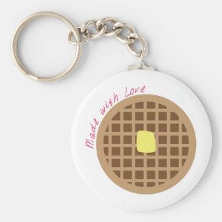 Waffle_Made With Love Keychain