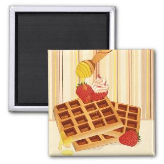 Waffle magnet imán cuadrado