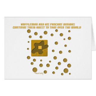 waffle man and his pancake minions greeting card