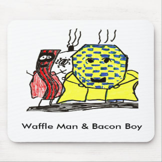 Waffle Man & Bacon Boy Mouse Pad