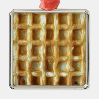 Waffle oil paint effect metal ornament