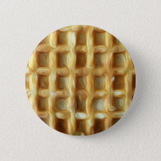 Waffle oil paint effect pinback button