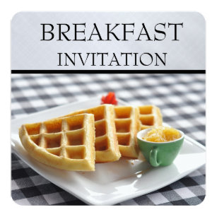 Waffle Invitations & Announcements