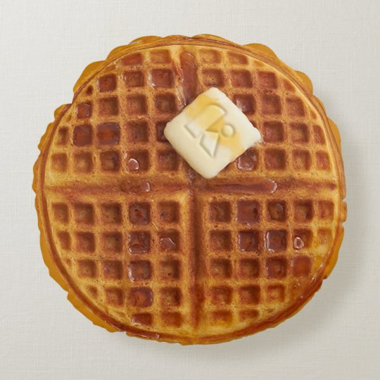 Waffle Round Throw Pillow Zazzle Com