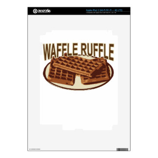 Waffle Ruffle . Decal For iPad 3
