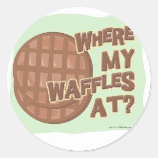 Waffle Shortage! Classic Round Sticker