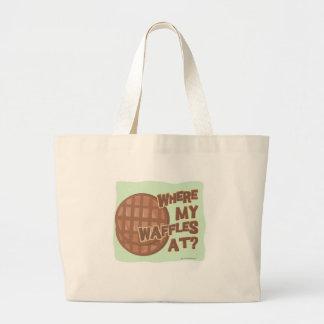 Waffle Shortage! Large Tote Bag