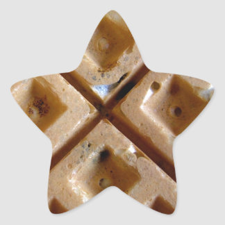 Waffle Star Sticker