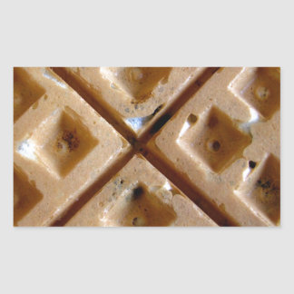 Waffle Rectangular Sticker