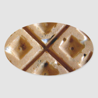 Waffle Oval Sticker