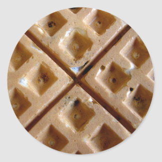 Waffle Classic Round Sticker