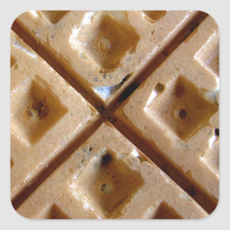 Waffle Square Sticker