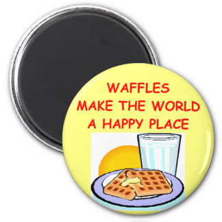 waffles 2 inch round magnet